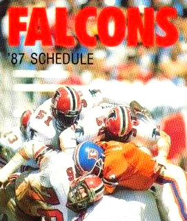 1987 Atlanta Falcons Pocket Schedule